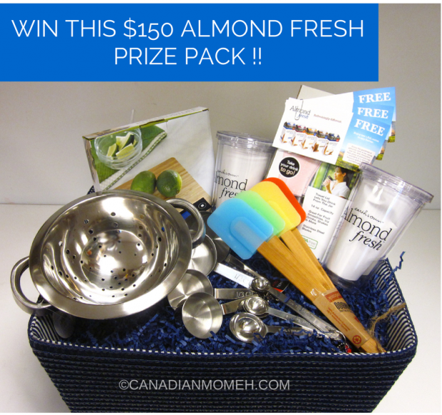 canadianmomeh.com, smoothie recipe, canadianmomeh, almond fresh, earth's own almond fresh, giveaway, gift basket, lactose free milk