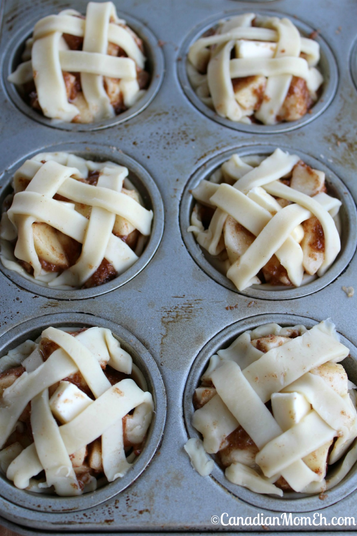 apple pie, apple pie recipe, lattice apple pie, mini lattice apple pie ...