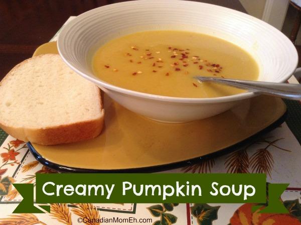 creamy pumkpin soup