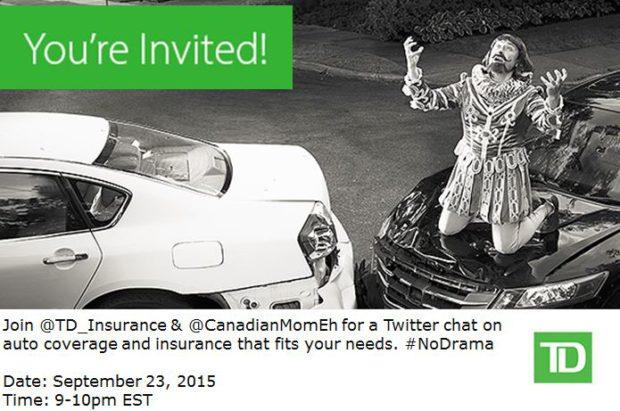 no drama twitter party, td auto insurance